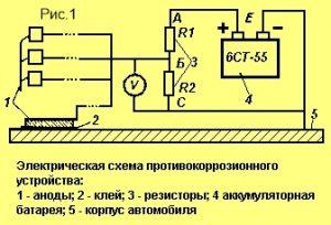 электрическая схема антикоррозийного устройства